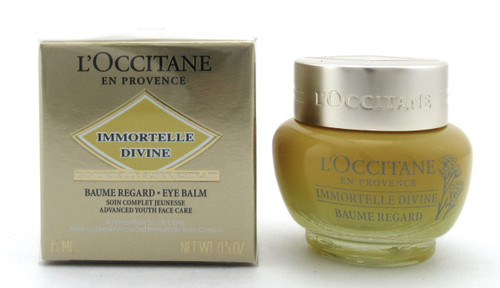 L'Occitane Immortelle Divine Eye Balm 15 ml./ 0.5 oz. New Sealed Box