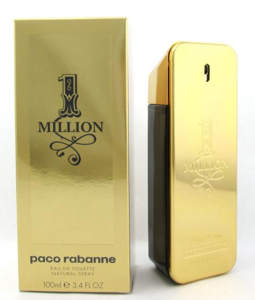 1 Million Paco Rabanne Eau de Toilette Spray for Men 3.4 oz.  New in Box