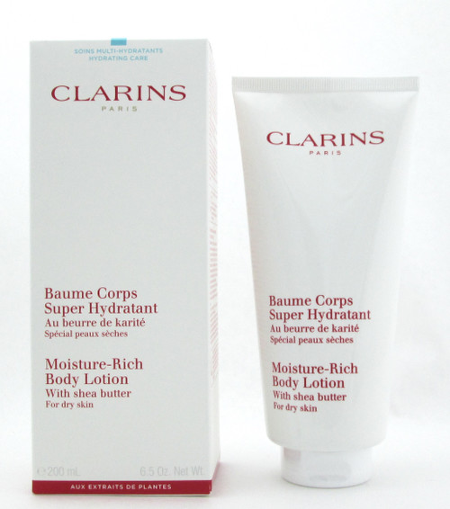 Clarins Moisture Rich Body Lotion with Shea Butter Dry Skin 200 ml./ 6.5 oz. New