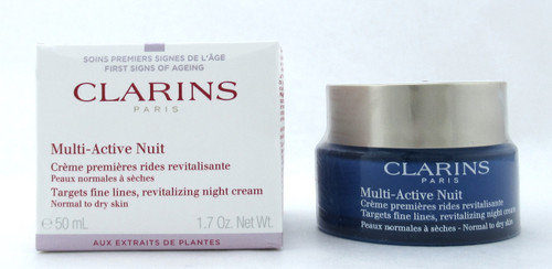Clarins Multi-Active Night Revitalizing Cream Normal to Dry Skin 50 ml./ 1.7 oz. Damaged Box