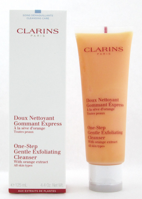 Clarins One-Step Gentle Exfoliating Cleanser with Orange Extract All Skin 125 ml./ 4.4 oz. New