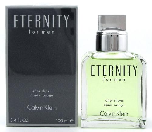 Eternity by Calvin Klein 3.4 oz. After Shave Splash for Men. New Sealed Box