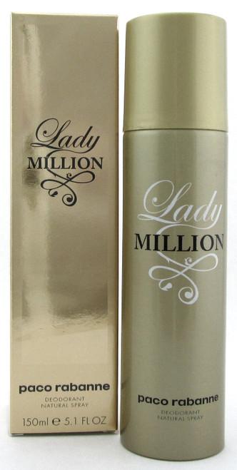 Lady Million by Paco Rabanne 5.0 oz./150 ml. Deodorant Spray for Women