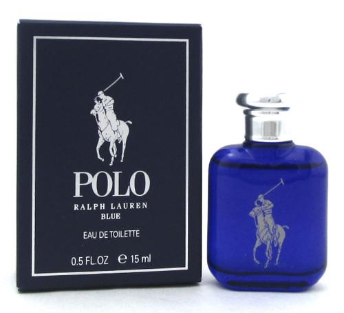 Polo Blue by Ralph Lauren 0.5 oz./ 15 ml. Eau de Toilette SPLASH for Men. New