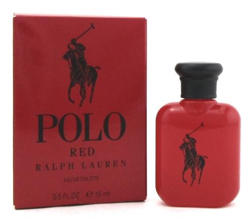 Polo Red by Ralph Lauren 0.5oz./15ml. Mini EDT Splash for Men. New No Cellophane