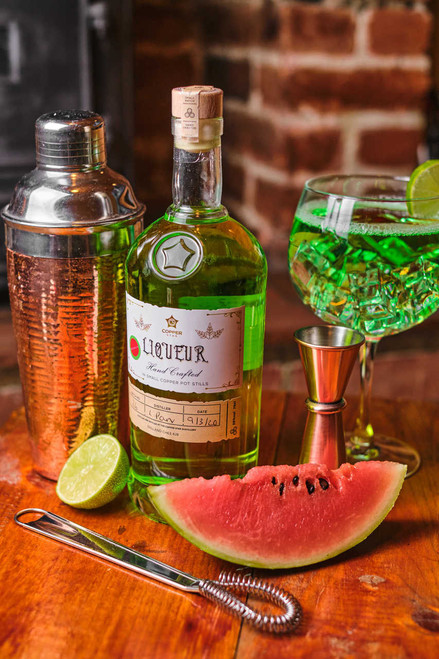 Copper star watermelon gin liqueur