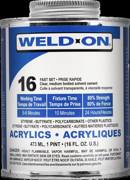 SCIGRIP IPS Weld-On #16 - Low VOC Acrylic Plastic Cement