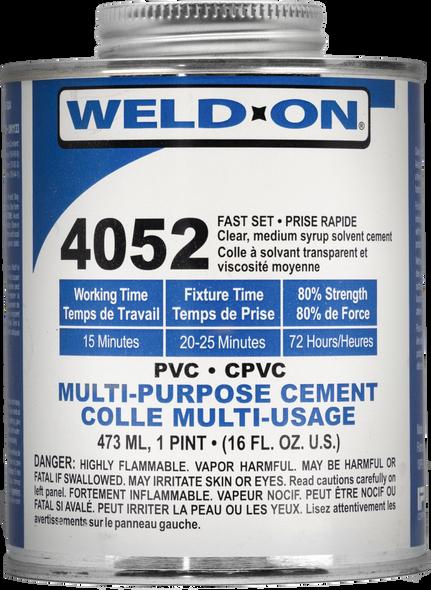 SCIGRIP IPS Weld-On #4052 - Low VOC Flexible Vinyl Cement