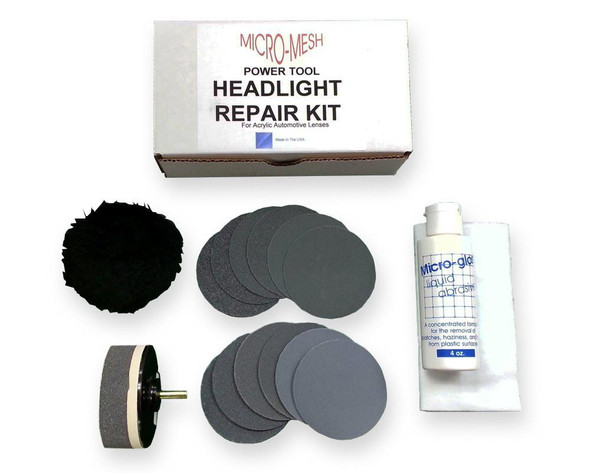 Micro-Mesh Car Headlight Lens Restore Kit
