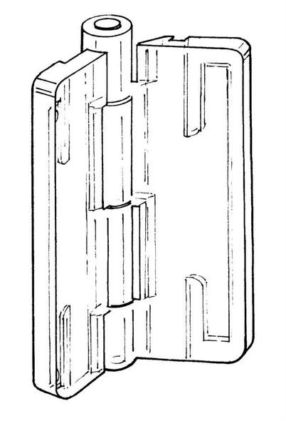 """Acrylic Hinge - 1-1/2"""" x 1-3/4"""""""