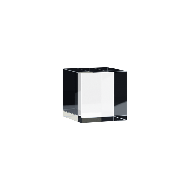 Solid Tumbled Clear Acrylic Cube