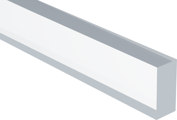 Extruded Clear Rectangular Acrylic Bar