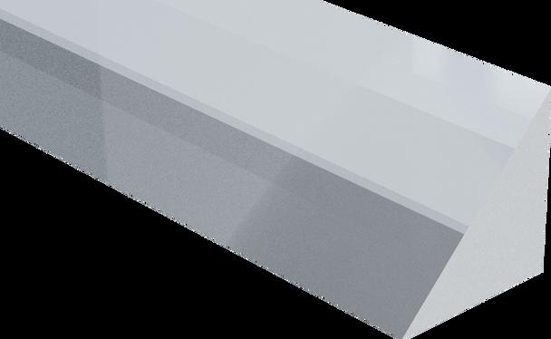 Extruded Clear Isosceles Right Triangle Acrylic Rod