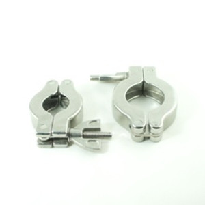 Stainless steel clamps for KF16 to KF50 flanges