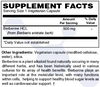 DuraDetox® Berberine HCL Supplement Facts - Blood Sugar & Cholesterol Support*. GLUTEN FREE • NON GMO • VEGAN
