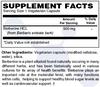 DuraDetox® Berberine HCL Supplement Facts - Blood Sugar & Cholesterol Support*. GLUTEN FREE • NON GMO • VEGAN