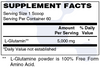 L-Glutamine Powder Supplement Facts - Supports Structure and Function of the Gastrointestinal (GI) Tract (Leaky Gut) and Immune System - Pure Unflavored and Mixes Easily