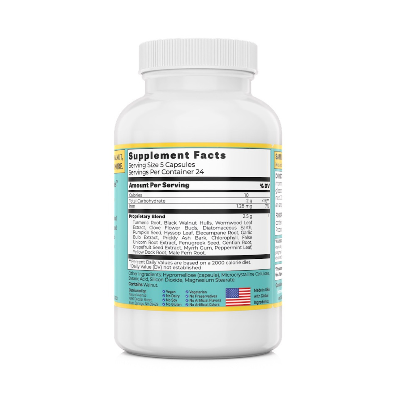 ParaNix Parasite Cleanse. The most comprehensive formulaof its kind! Designed to help eliminate parasites and kill their larva.120 capsules per container, 500mg each. For Sale @ InternalCleanse.com