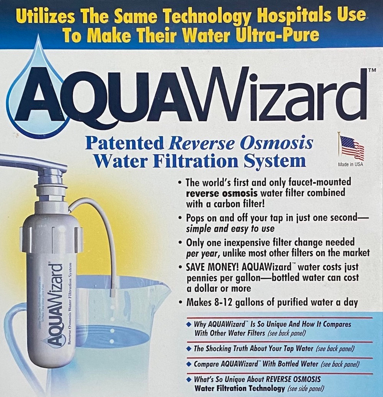 AquaWizard II - Faucet Mount RO Unit With Tester