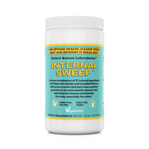 INTERNAL SWEEP™ - Colon Cleansing Fiber Powder, Contains 37 herbs that work synergistically to loosen fecal matter from your intestinal walls ... enhance elimination ... reduce bowel transit time ... and restore digestive health.*