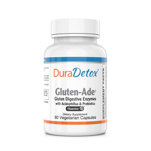 DuraDetox® Gluten Aid - Digestive Enzymes with Probiotics & Prebiotics designed to support the digestion of gluten found in wheat, rye and other gluten containing grains* (GlutenADE)