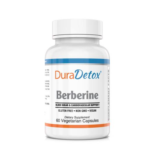 DuraDetox® Berberine HCL - Blood Sugar & Cholesterol Support*. GLUTEN FREE • NON GMO • VEGAN
