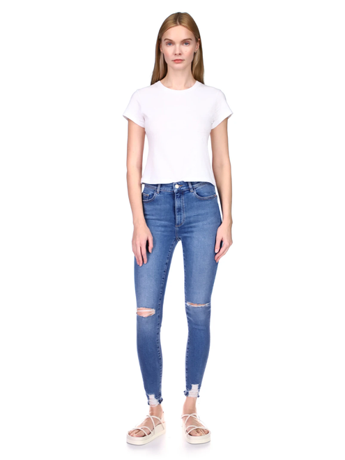 Farrow Ankle High Rise Skinny Instasculpt_ Rip Tide Distressed