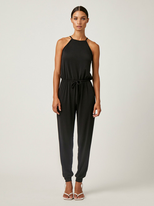 Halter Jumpsuit_ Black