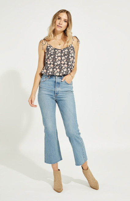 Aster Top_ Navy Floral