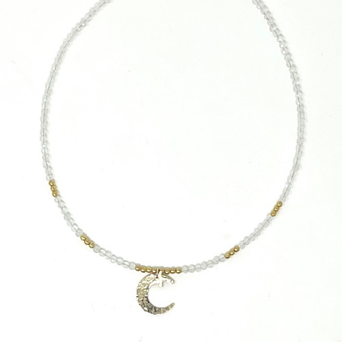 Moonstone Necklace_ Moon and Star