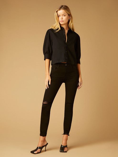Farrow Ankle High Rise Skinny Instasculpt_ Black Tide Distressed