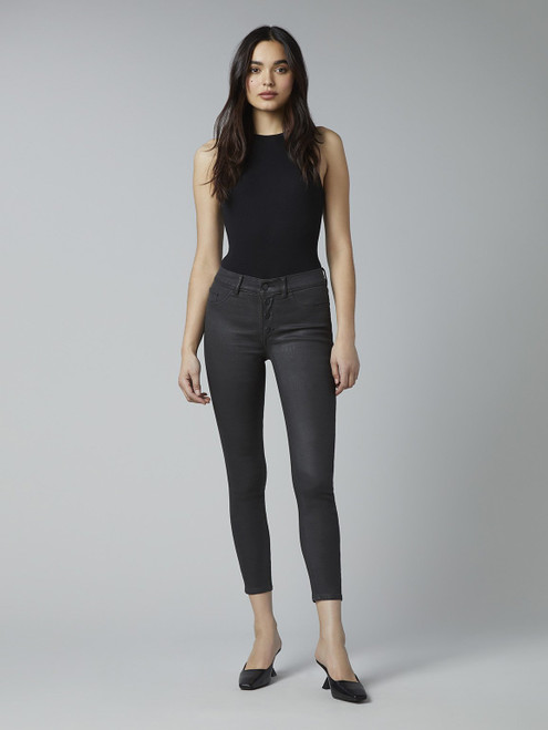 Florence Crop Mid Rise Skinny Instasculpt_ Pewter (coated)