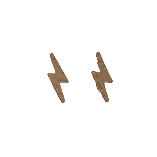 Lightning Bolt Studs_ Gold