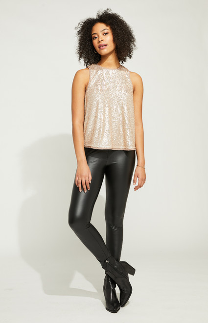 Millie Sequin Tank_ Champagne