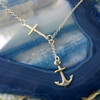 Anchored in Faith, sterling silver