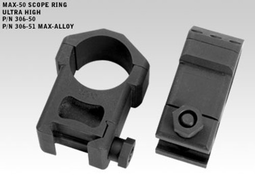 Badger MAX-50 Rings 306-50,Ultra High 1.450, 30mm