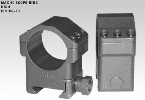 Badger MAX-50 Rings 306-13, High 1.125, 30mm