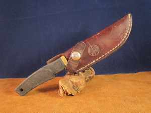 S&W 6080 Knife with leather sheath