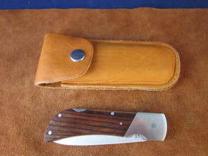 Vintage Valor 368 folding knife with Deerskin pouch