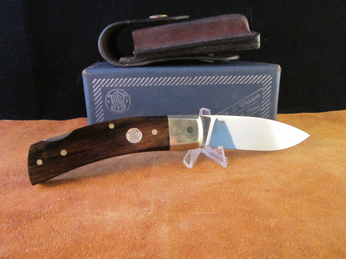 1970's S&W Survival Series model 6060 Folding Hunter, Box and sheath