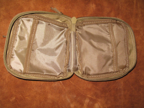 Inside of pouch showing the 2 slots