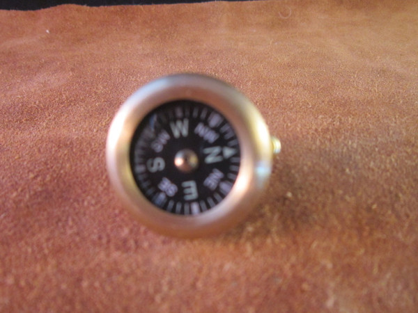 Marbles Classic Brass Pin on Compass
