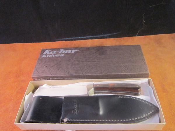 70's Ka-Bar model 1240 drop Point Hunter in box