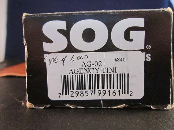 SOG Agency AG-02 knife and sheath NOS box end.