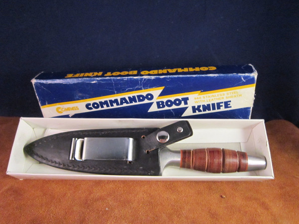Vintage Compass Industries C.I. model  567 Commando Knife with box