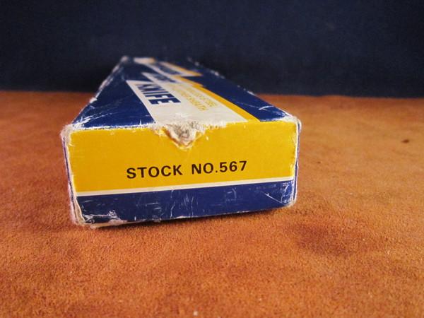 Vintage Compass Industries C.I. model  567 Commando Knife Box end