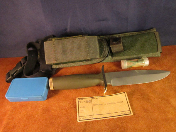 1980's Bianchi Nighthawk ll Military M-1400 knife- NOS kit