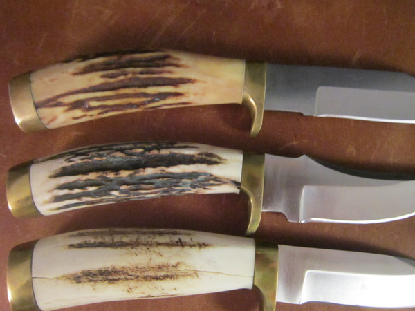 Vintage Kershaw; Dan Harrison Hand-Crafted American  Series Stag handled Knives.
