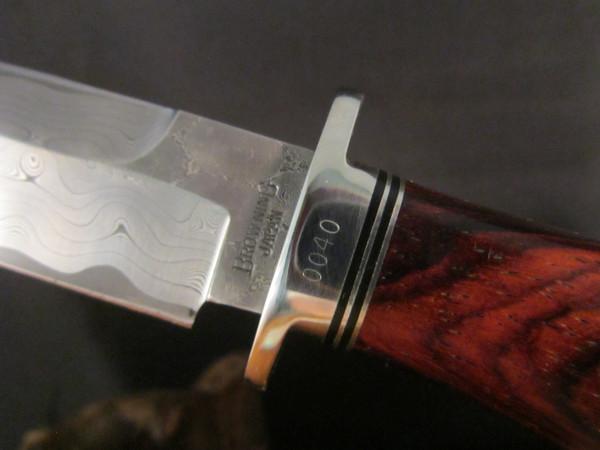 1983 Browning Double Edge Damascus Hunter-Hattori