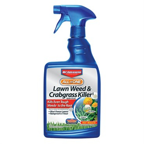 BioAdvanced® All-in-One Lawn Weed & Crabgrass Killer